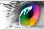 Foto de olho colorido
