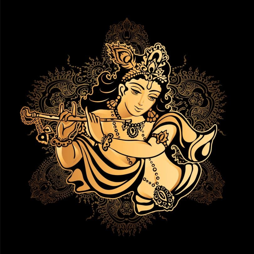 Ilustração de Krishna Janmashtami
