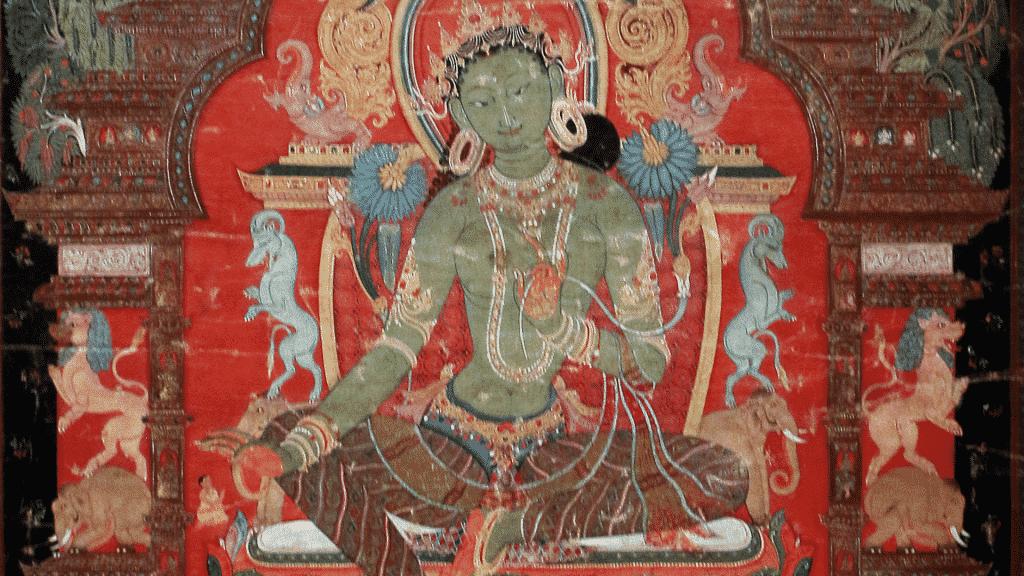 Desenho de Tara Verde no templo budista