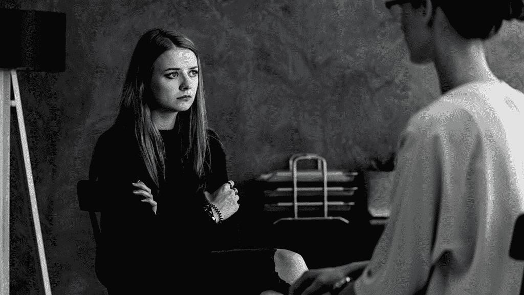 Garota de luto na psicóloga