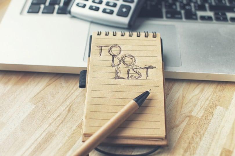 como organizar a lista das tarefas to do list