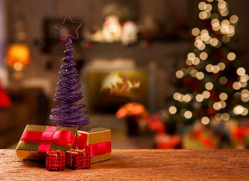 Adereços de Natal.