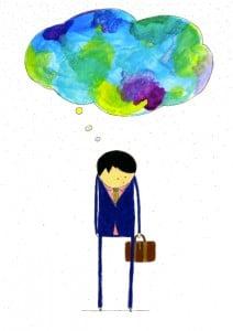 Ilustração por Vitória Frate: Contornos da Falta