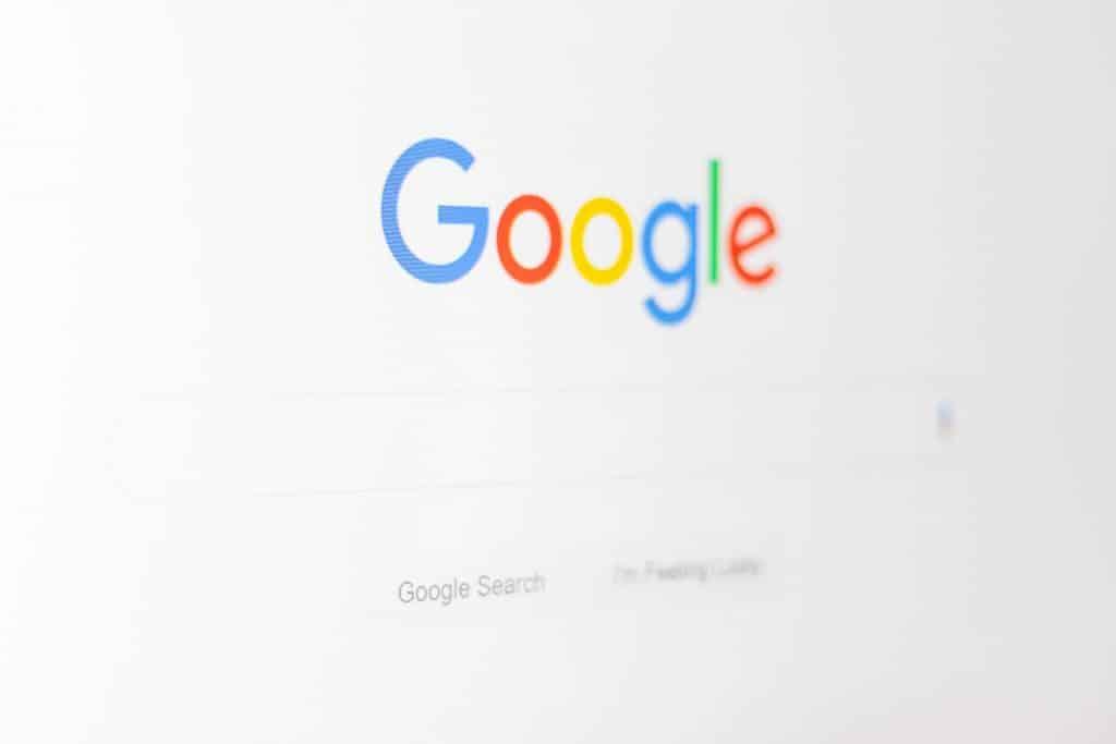 Tela de pesquisa do google