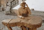 Estátua de Chico Xavier em Ouro Preto