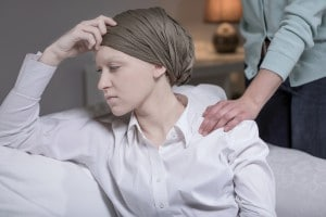 Elegant Woman Having Breast Cancer
