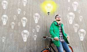 people, startup, inspiration and lifestyle - happy young hipster