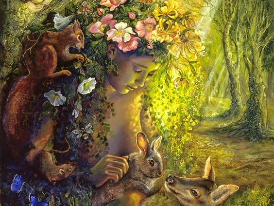 Representação da deusa ostara.
