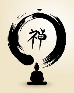 Zen Circle And Buddha Illustration