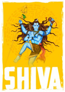 illustration of Lord Shiva, Indian God of Hindu with mantra Om N