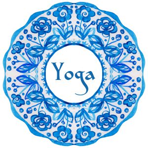 ector yoga illustration. Yoga poster with an ethnic watercolor pattern. Template with Indian ornament and your text for yoga class, yoga studio, fitness center, advertising, yoga magazine.