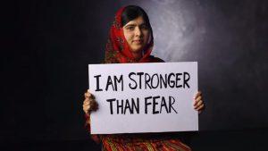 """""""Eu sou mais forte que o medo."""""""