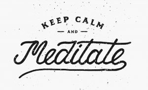 Keep Calm and Meditate. Motivational and Inspirational Illustrat