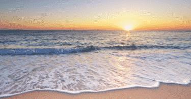 Imagem da beira do mar
