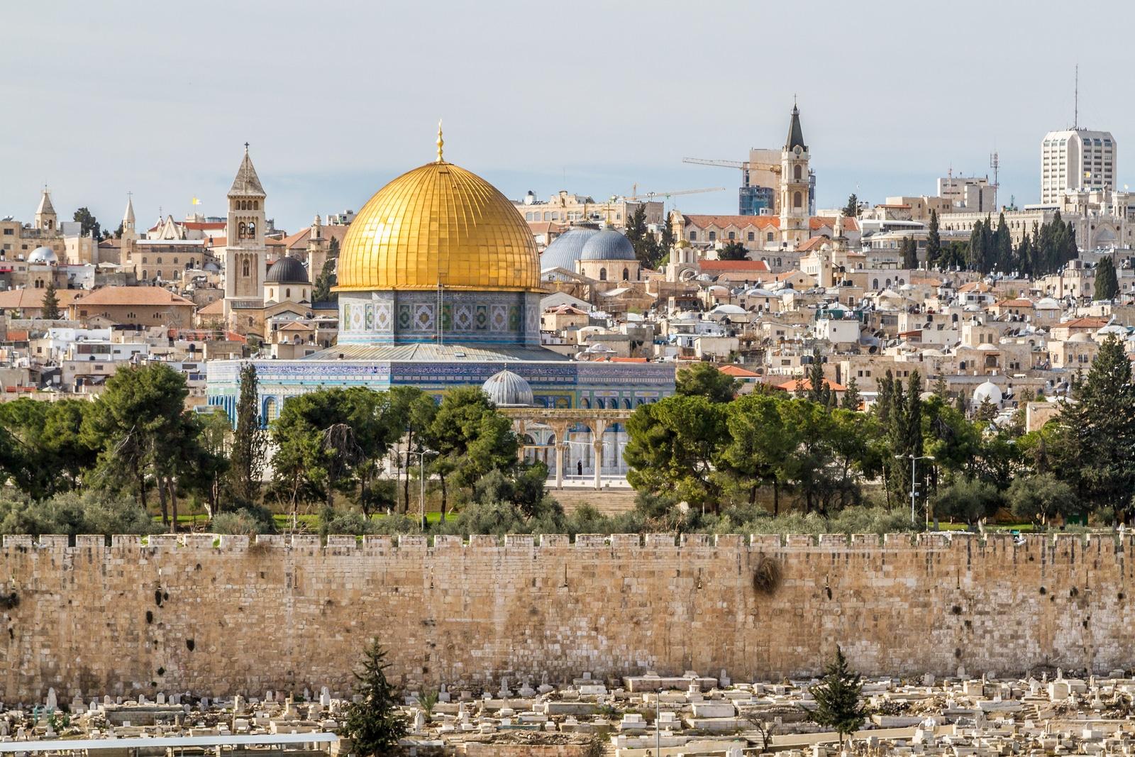 Vista da Cúpula da Rocha, em Jerusalém (Israel).