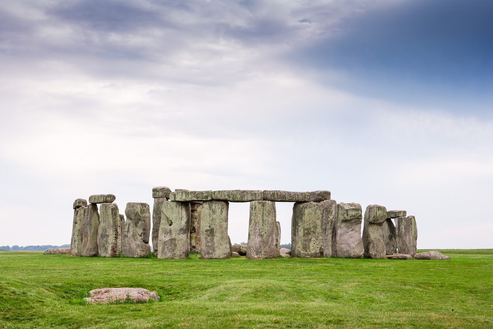 Stonehenge is famous prehistoric landmark and World Heritage Site. Stonehenge on Salisbury Plain Wiltshire England