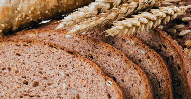 Close up of whole grain bread. . .