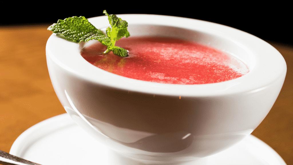 Sopa de melancia