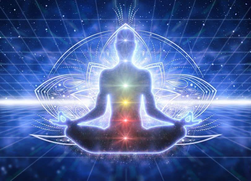 Representação de pessoa em prática meditativa.