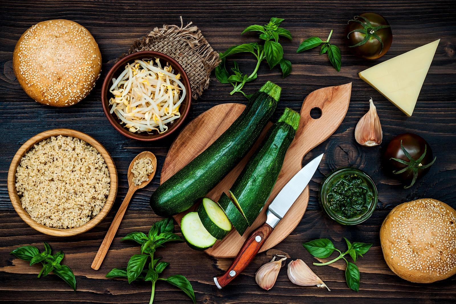 Comida vegetariana.