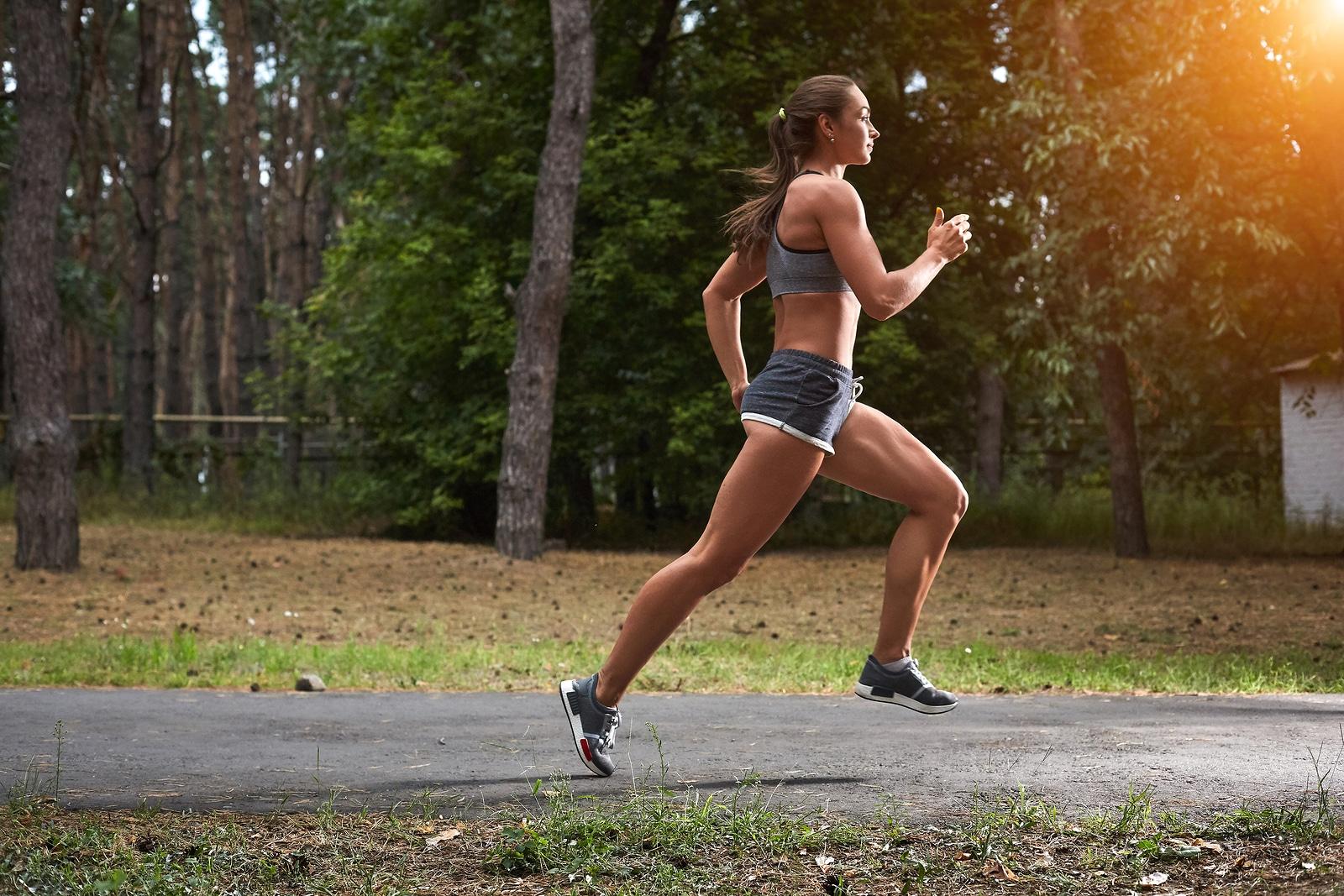 Mulher correndo.