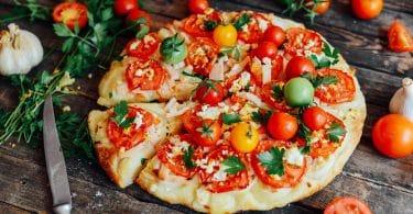 Pizza vegana.