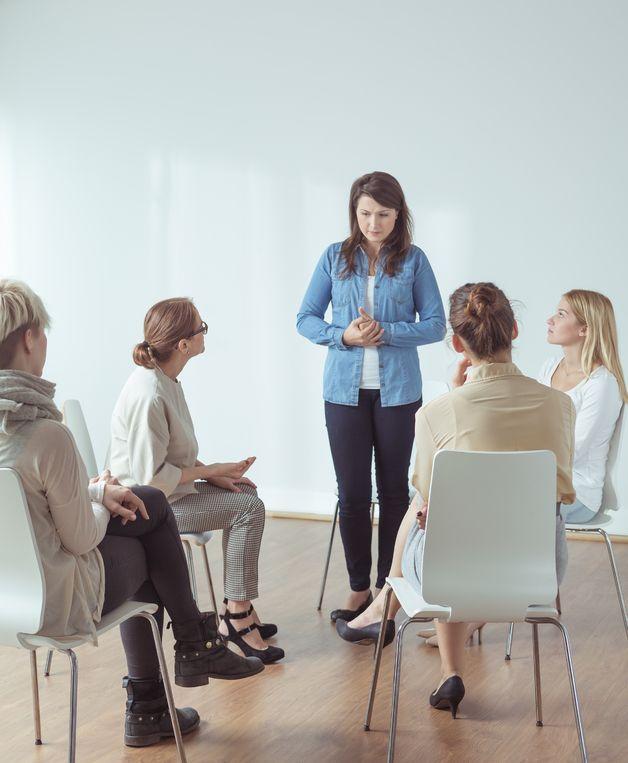 Reunião de mulheres.