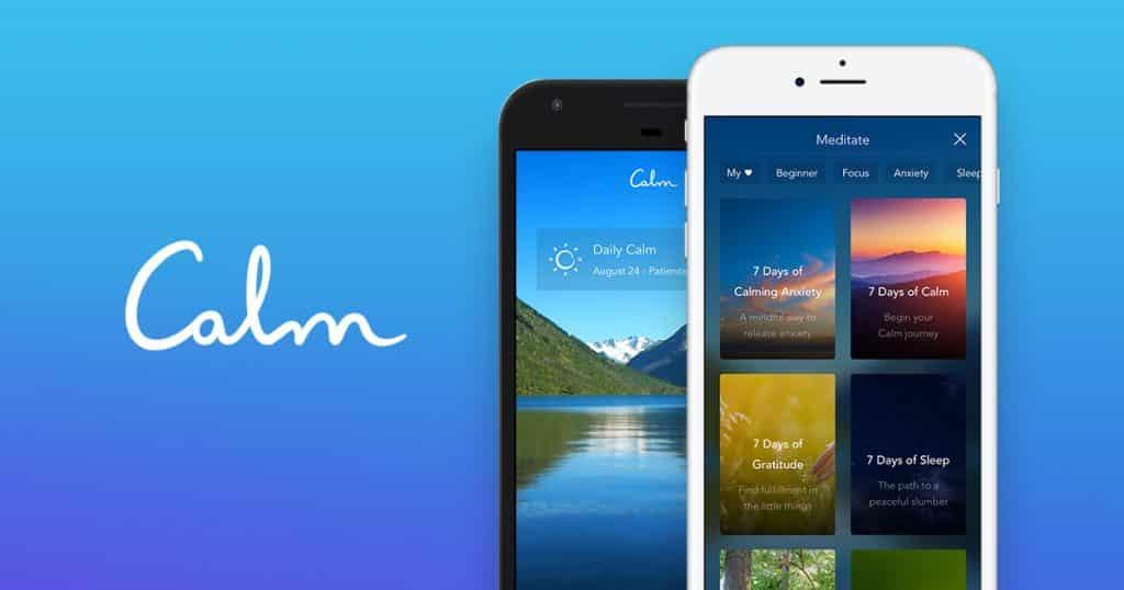Interface do aplicativo Calm