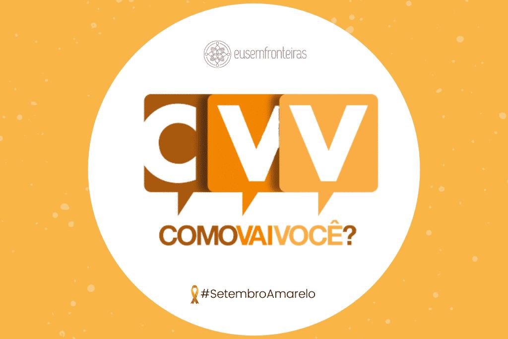 Imagem com o logotipo da CVV