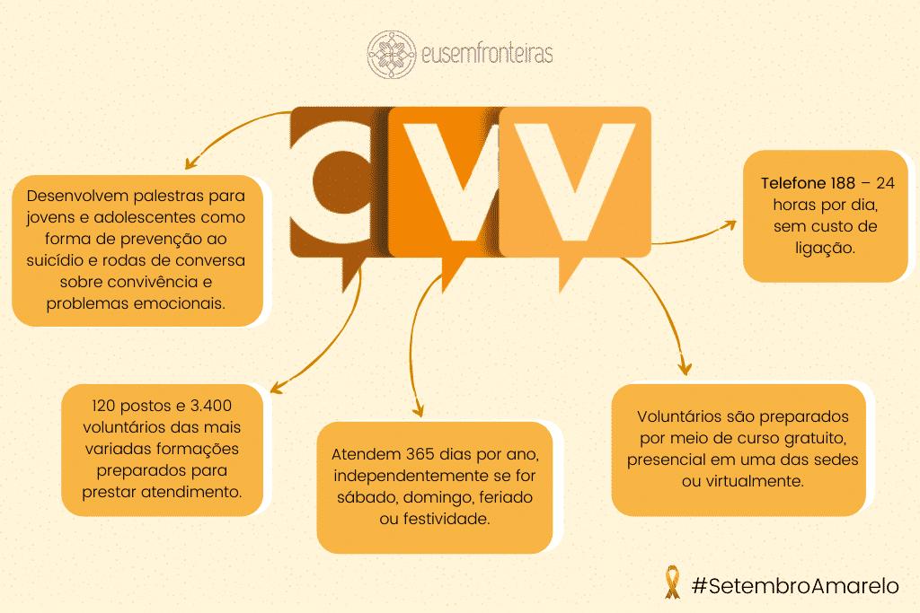 Infográfico sobre a CVV
