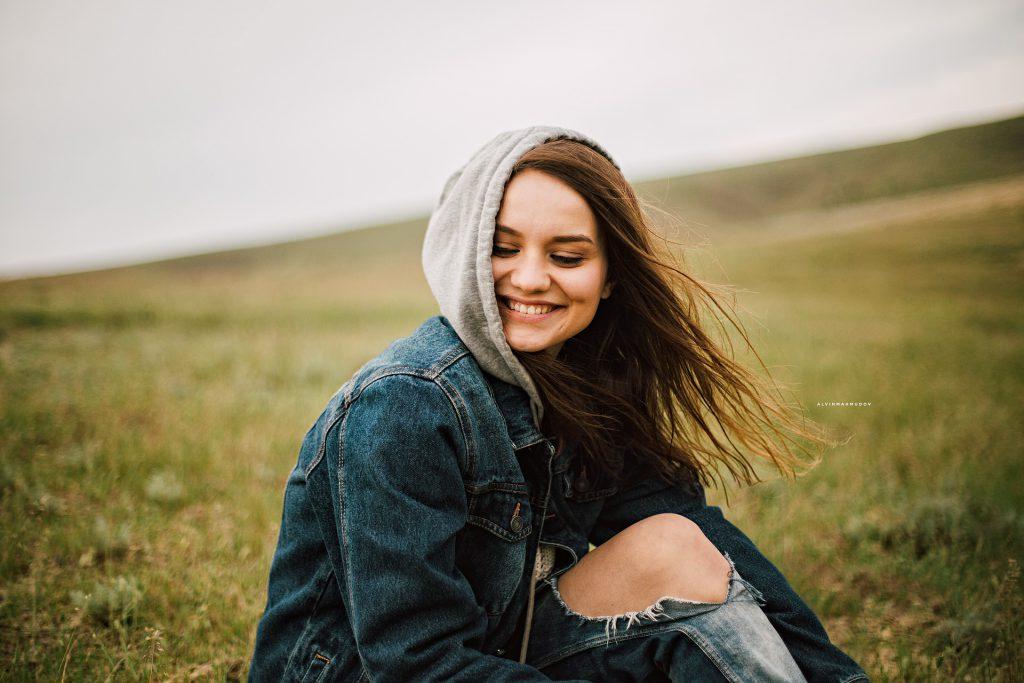 Menina sorrindo