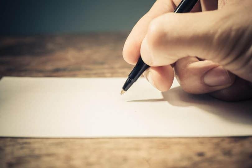 Escreva para lembrar