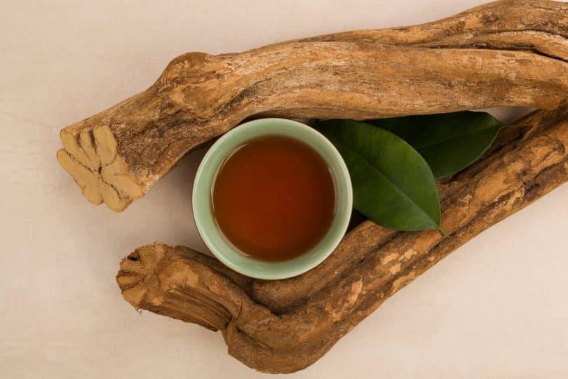 Elementos da medicina ayahuasca.