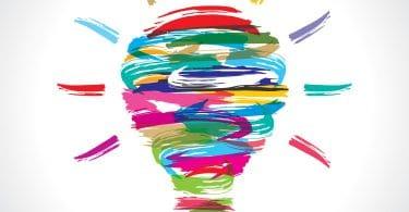 desenho colorido de lampada acesa.