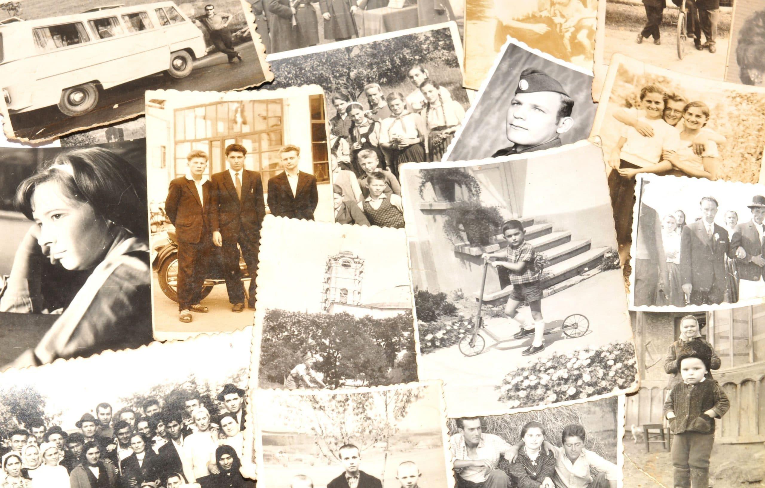 Fotos antigas. Sinônimo de lembranças, passado.