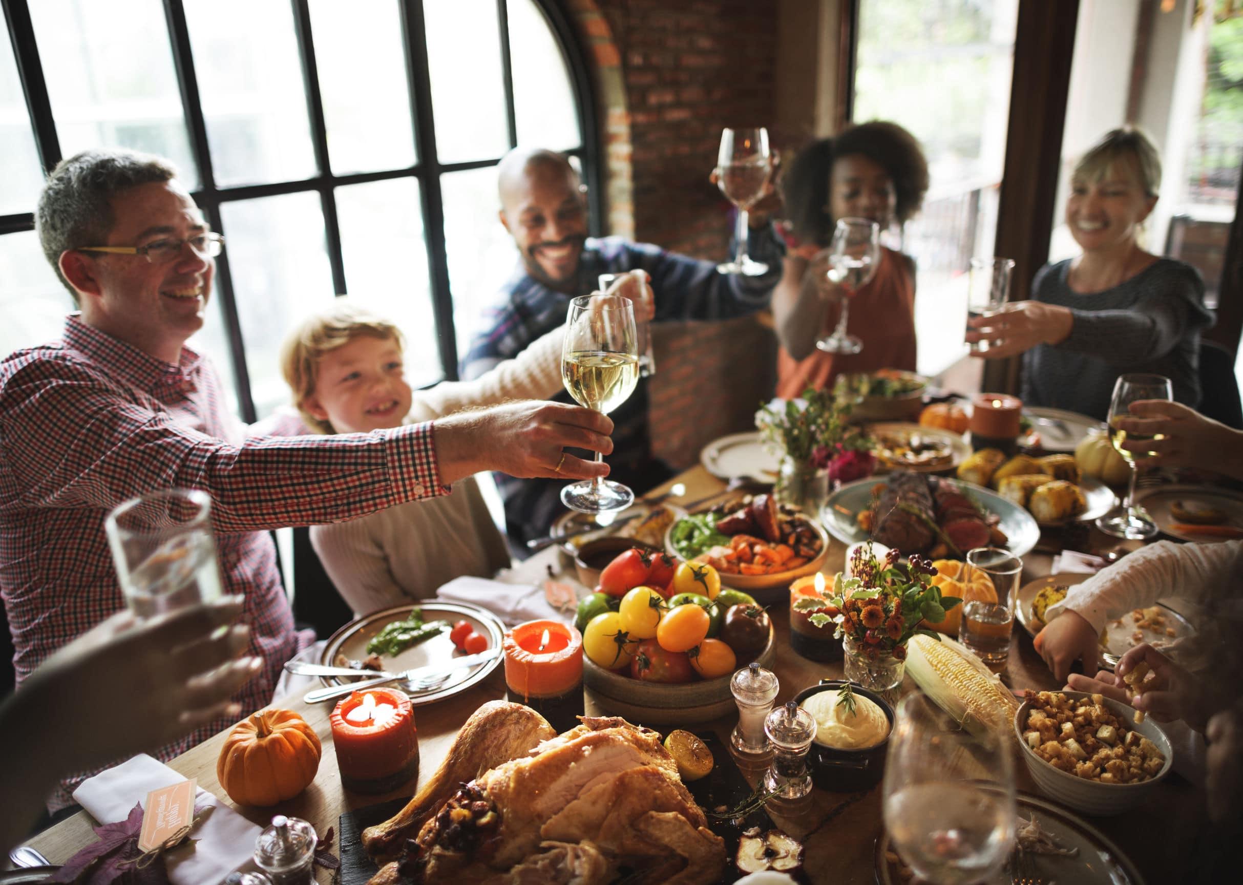 Jantar em família.