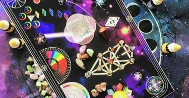 Foto de mesa quântica estelar.