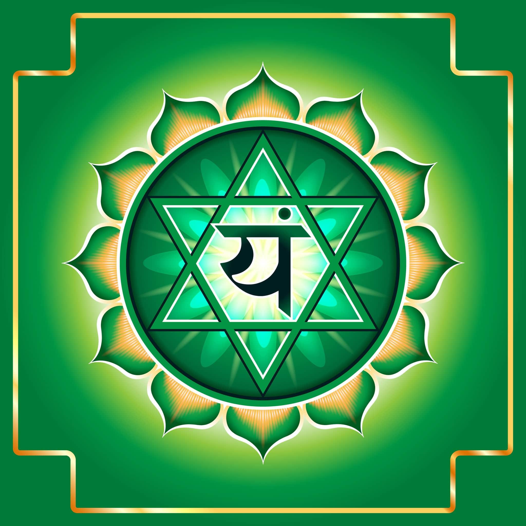 Desenho do símbolo do Chakra Cardíaco