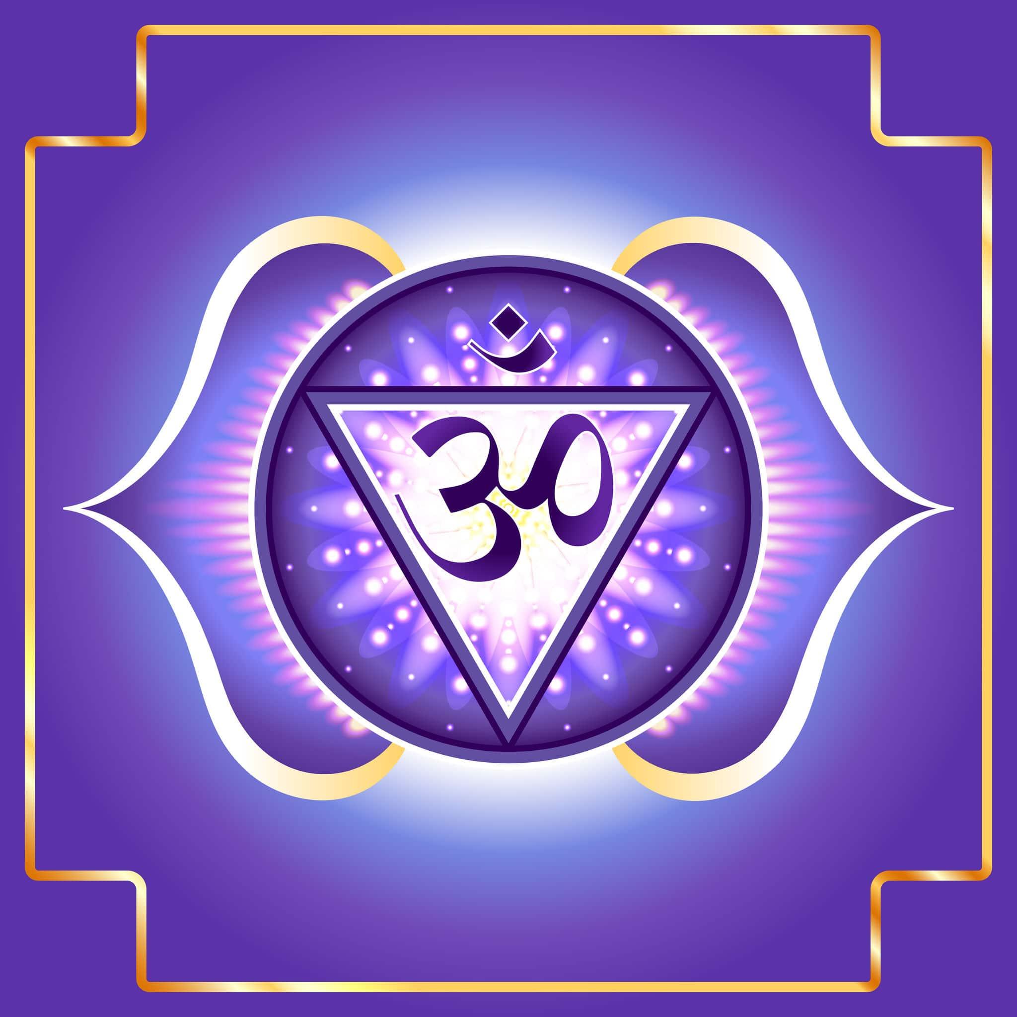 Desenho do símbolo Chakra do Terceiro Olho/Frontal