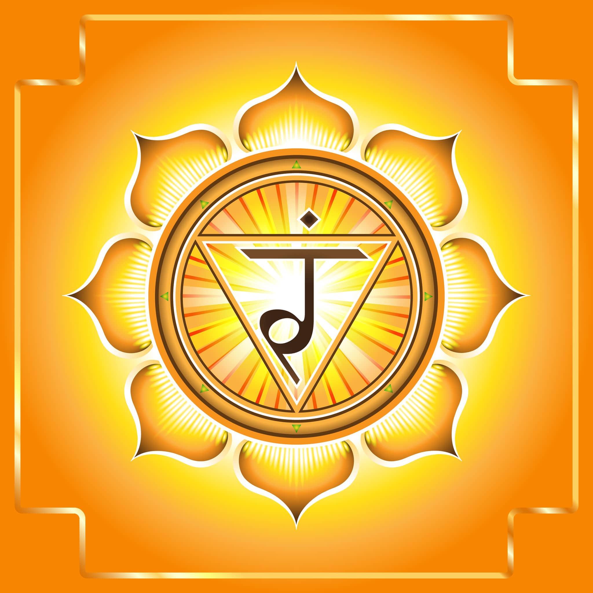 Desenho do símbolo do Chakra do Plexo Solar