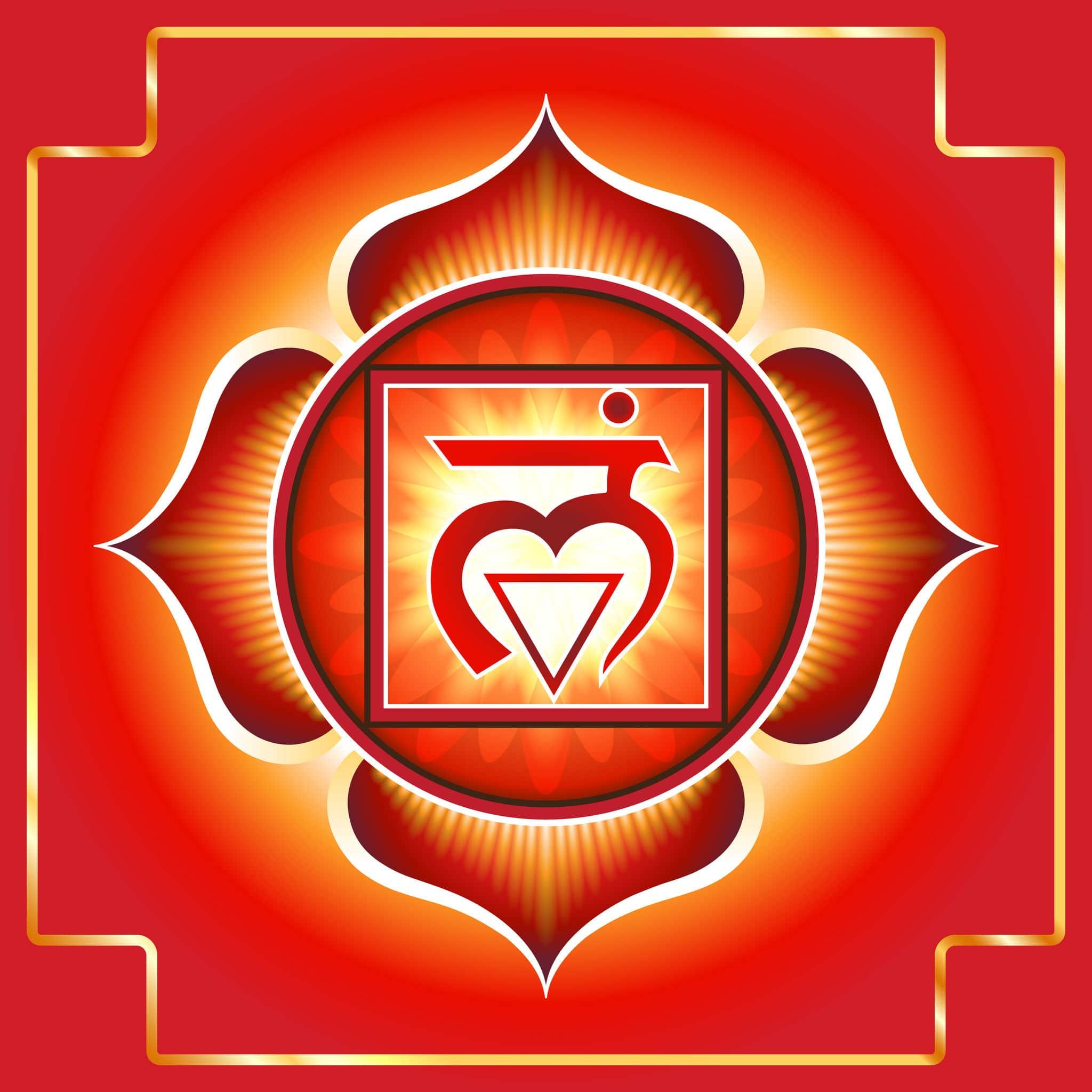 Desenho do símbolo do Chakra Raiz/Básico