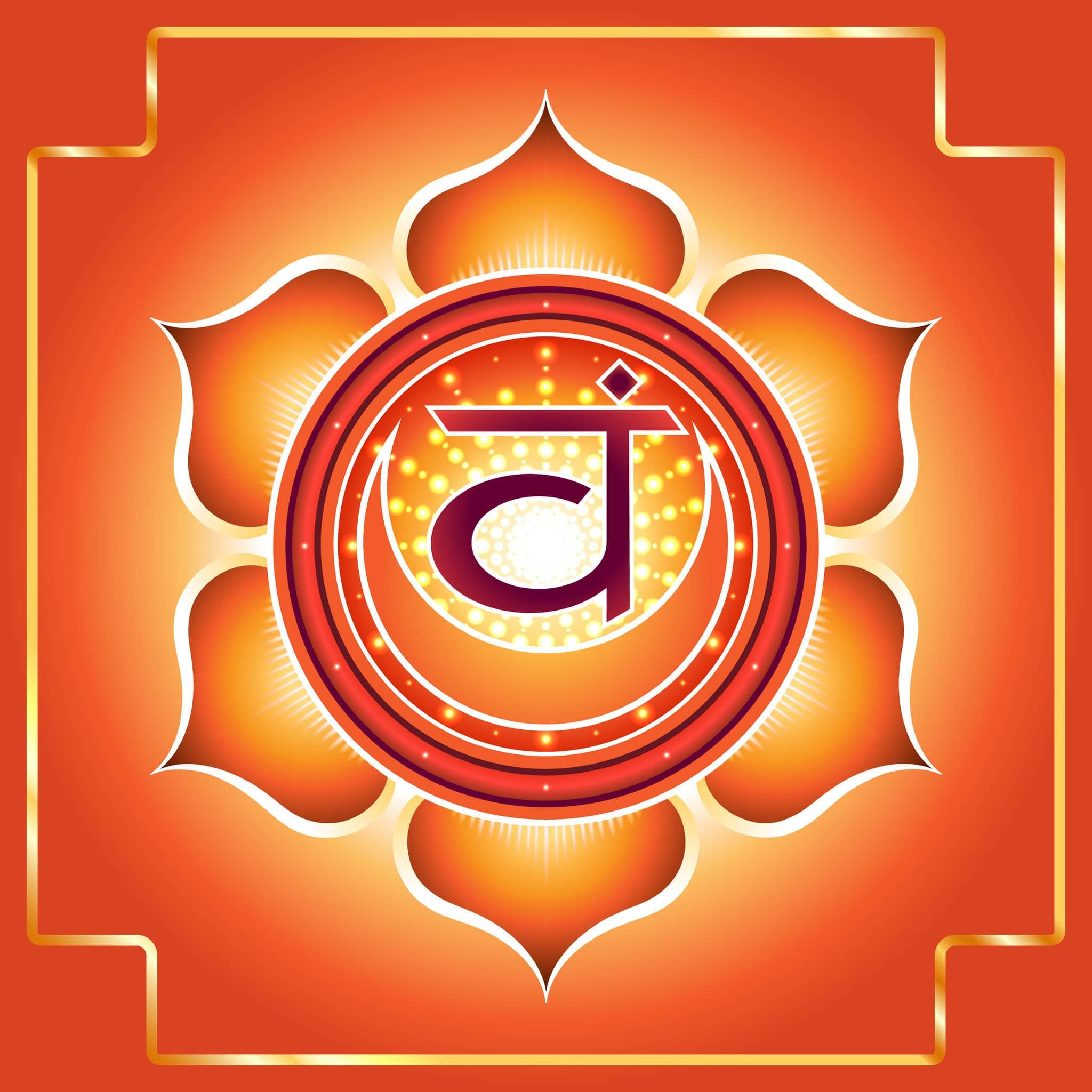 Desenho do símbolo do Chakra Sacral/Umbilical