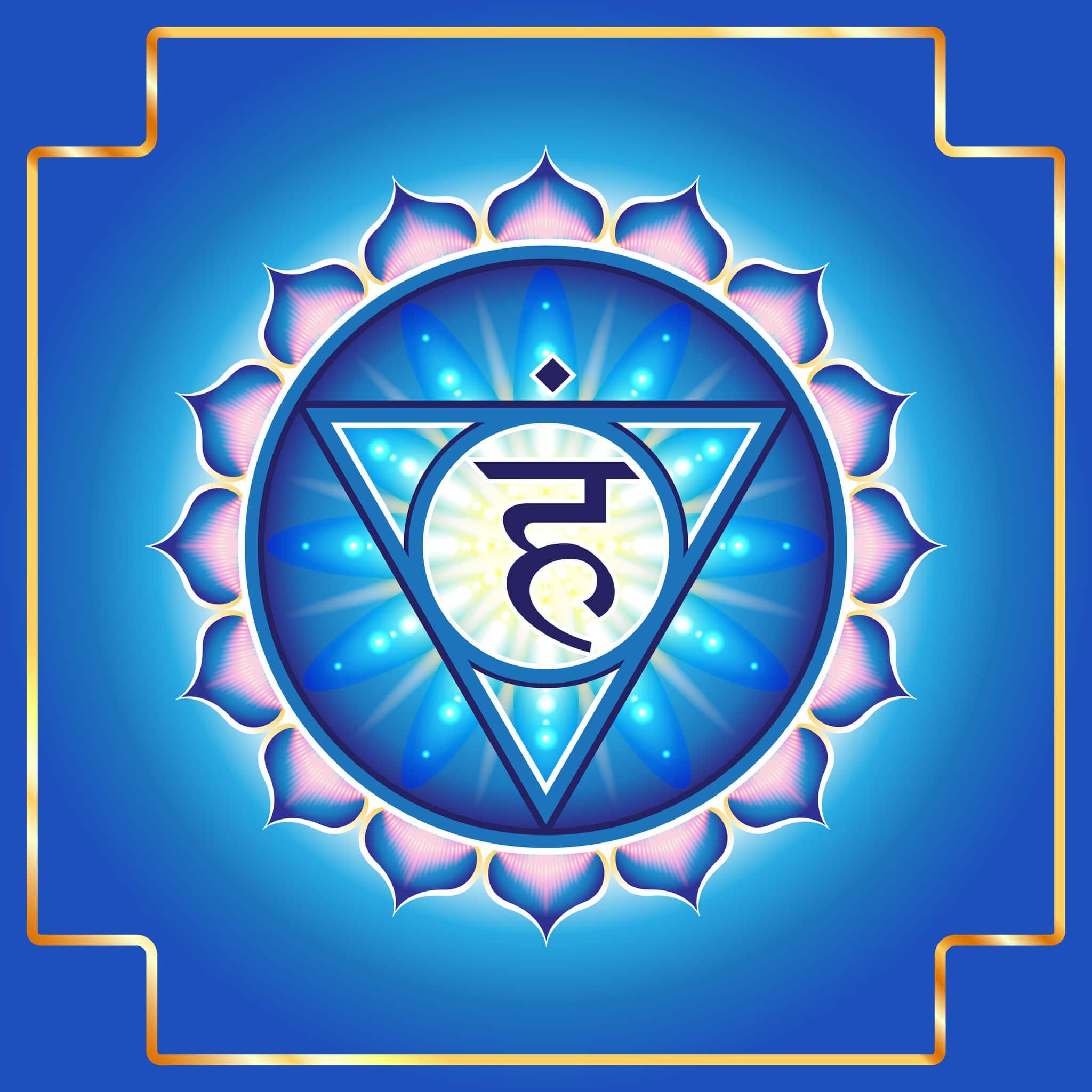 Desenho do símbolo do Chakra Laríngeo