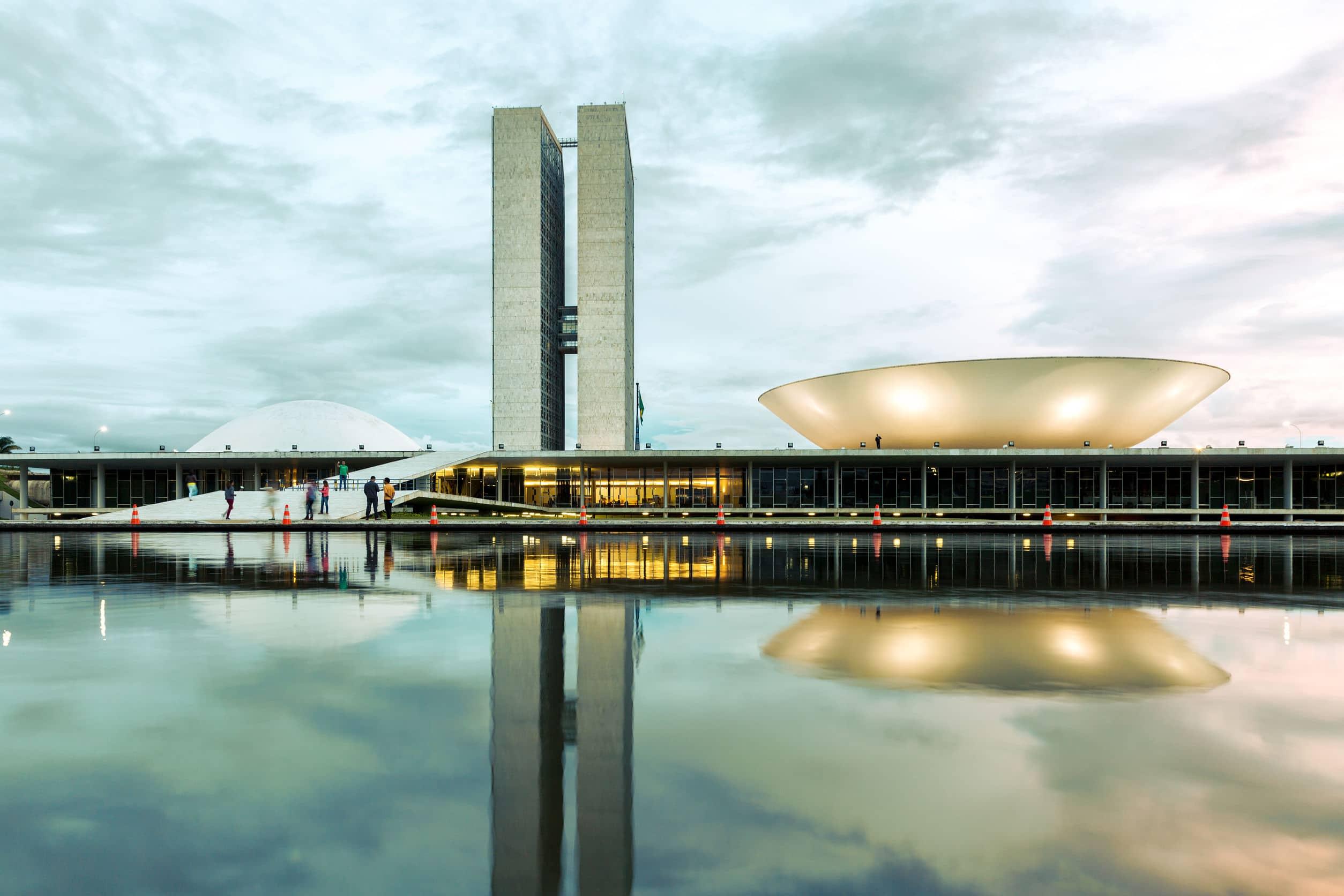 Congresso Nacional Brasileiro em Brasília, Brasil.