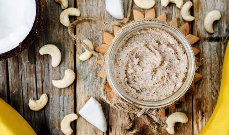 Manteiga de castanha de caju com coco