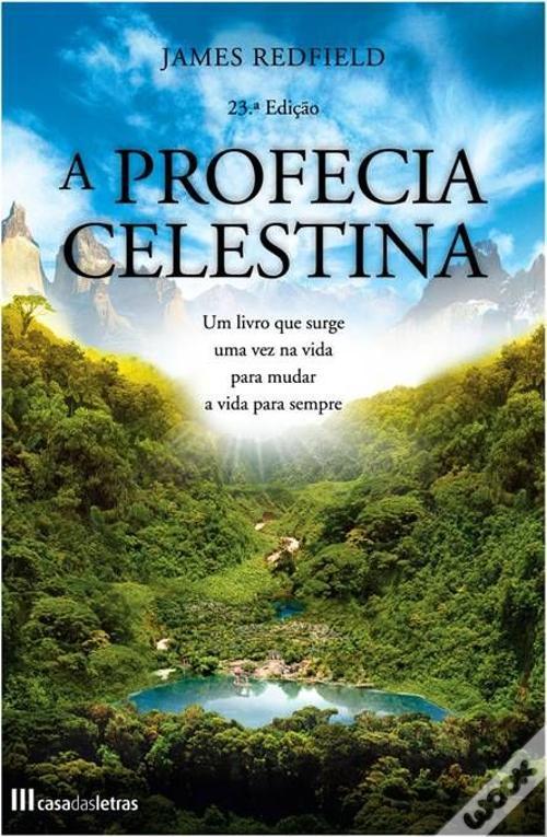 A Profecia Celestina. Capa de um monte verde e céu azul.
