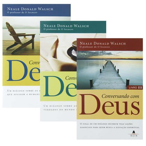 """Todos os livros da coleção """"Conversando com Deus""""."""