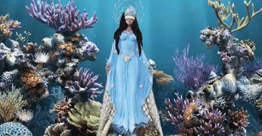 Imagem de Iemanjá embaixo d'água