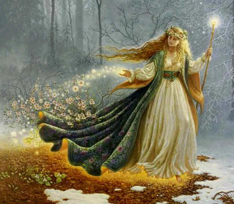 ilustração da deusa Eostre