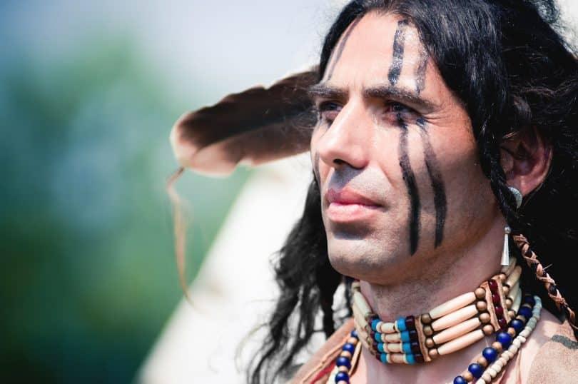 Retrato de um índio.